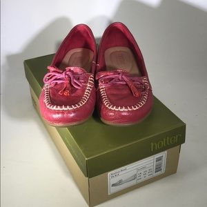 NEW Hotter Honiton Moccasins in dark red